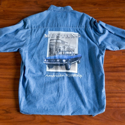 Mustang American Roadtrip  - Long Sleeve Denim Shirt