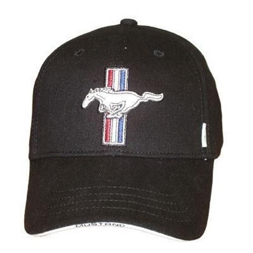 3d25ee1a25882 Mustang Running Horse Tri-Bar Hat (Black) - StangStuff