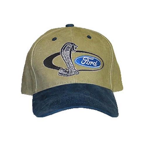 0dee65e9fe27d SVT Shelby Mustang Cobra Snake Hat Tan   Blue - StangStuff