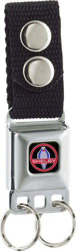 Buckle Keychain - Shelby Round Snake Logo w/ Black Background