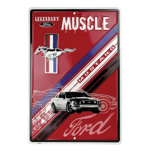 Legendary Muscle Metal Mustang Metal Sign