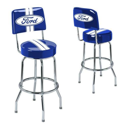 Ford Genuine Parts Bar Stool w/Backrest