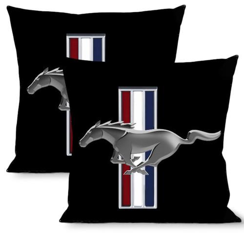 Pillow -Throw - Mustang Tribar Logo