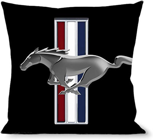 Pillow -Throw - Mustang Tri-Bar Logo