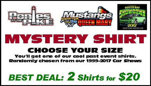 Mystery Shirt - Past Car Show Apparel - 2 Shirts