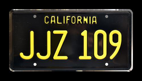 License Plate BULLITT JJZ 109 CA Black/Yellow