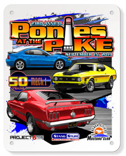 2019 Ponies at the Pike Metal Sign