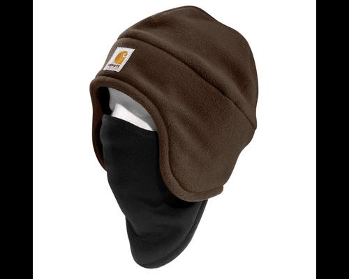 Carhartt 2-In-1 Fleece Cap & Mask - Brown