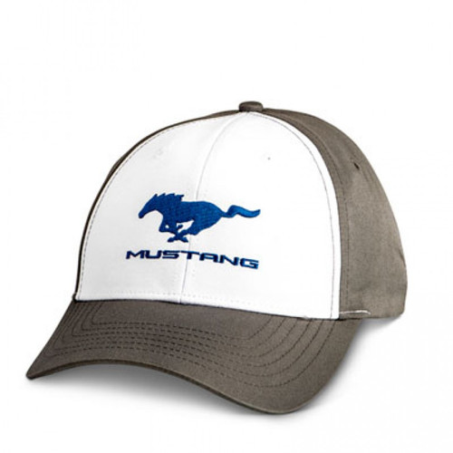 Mustang Running Horse White & Grey Hat