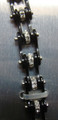 Bracelet - Timing Chain w/Crystals - All Black Wide