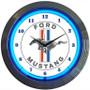 Neon Clock - Ford Mustang Blue Tri-Bar Clock