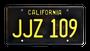 License Plate BULLIITT JJZ 109 CA Black/Yellow