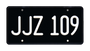 JJZ 109 License Plates - TWO PACK COMBO. Special Price!
