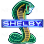 Shelby Snake Mustang Neon Sign - HUGE * 4 Ft Tall