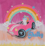 Girls Shelby Cobra Unicorn Rainbow Tie-Dye T-Shirt