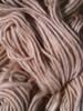 natural tan organic cotton pencil roving