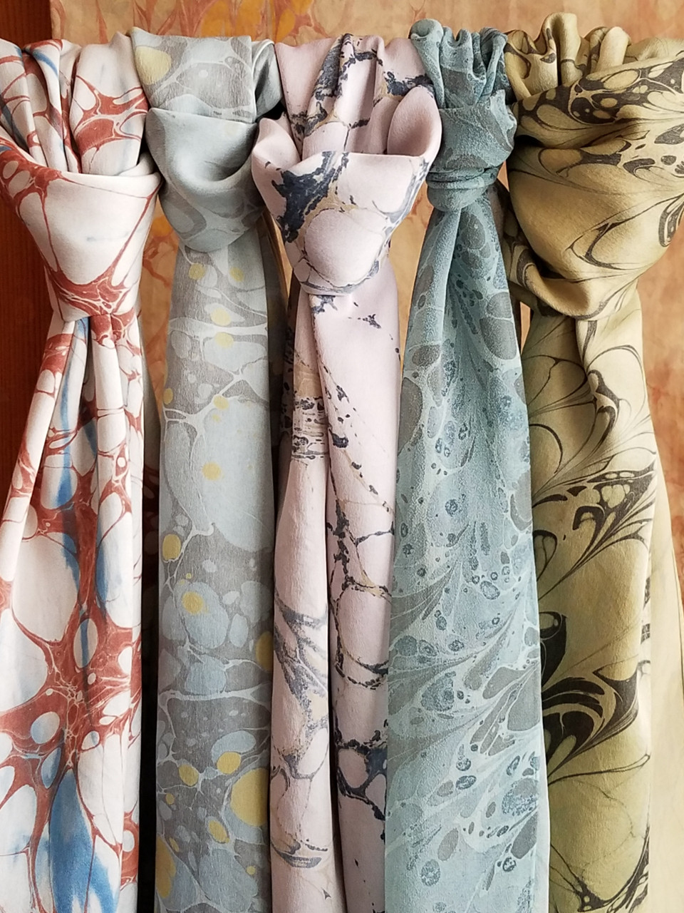 Marbled Scarves