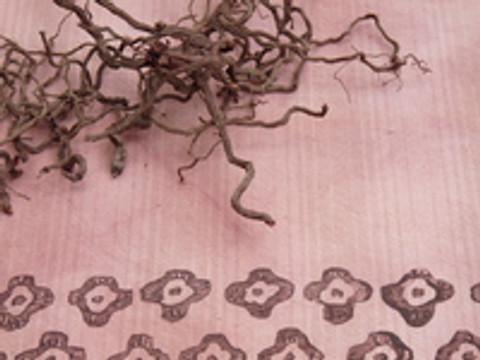 Dye & block print on Dye-Lishus® cotton shaded stripe