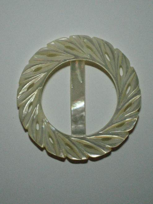 Mother of pearl buckle