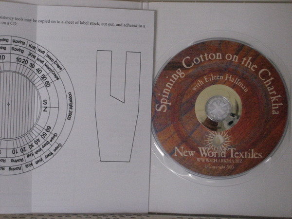 Spinning Cotton on the Charkha DVD with insert containing angle and wrap gauges.
