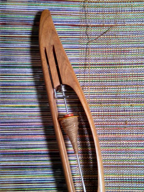 Chestnut handspun, handwoven sample