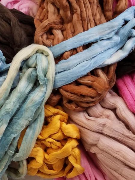 Dyed sliver samples