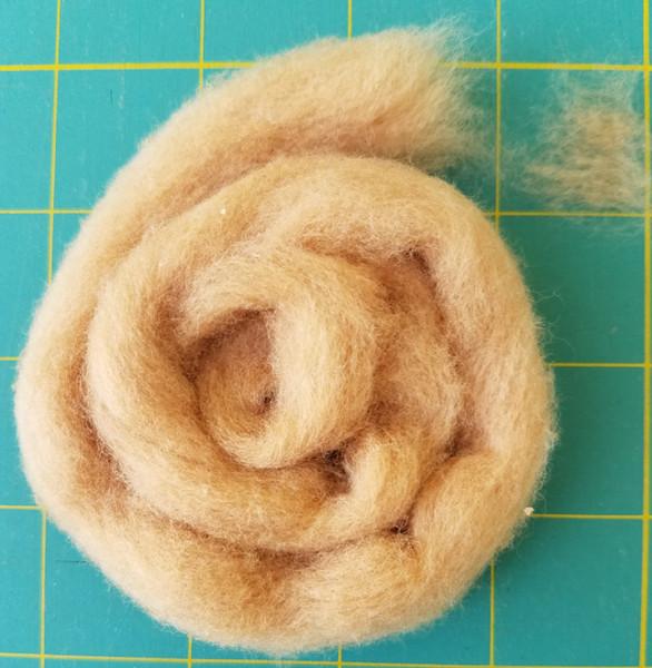 Brown cotton sliver