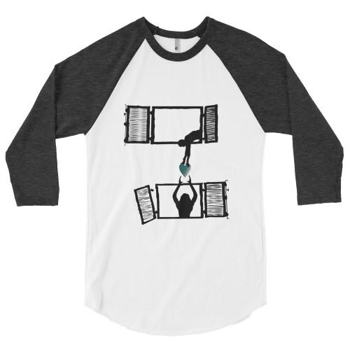 Sharing is the new hug - 3/4 sleeve raglan shirt