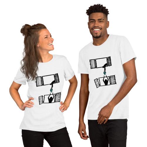 Sharing is the new hug Short-Sleeve Unisex T-Shirt