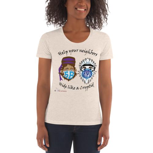 Masked Cryptids Women's Crew Neck T-shirt