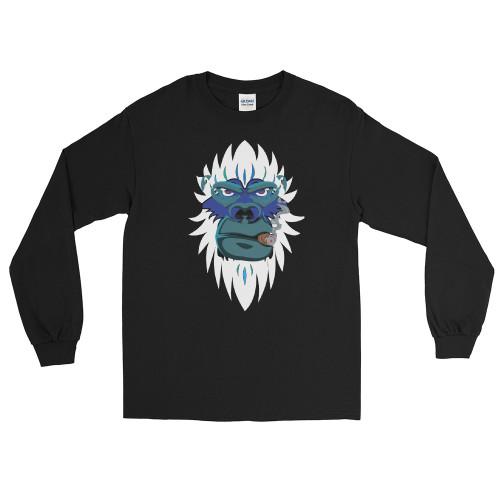 Smoking Yeti Men's Long Sleeve Shirt