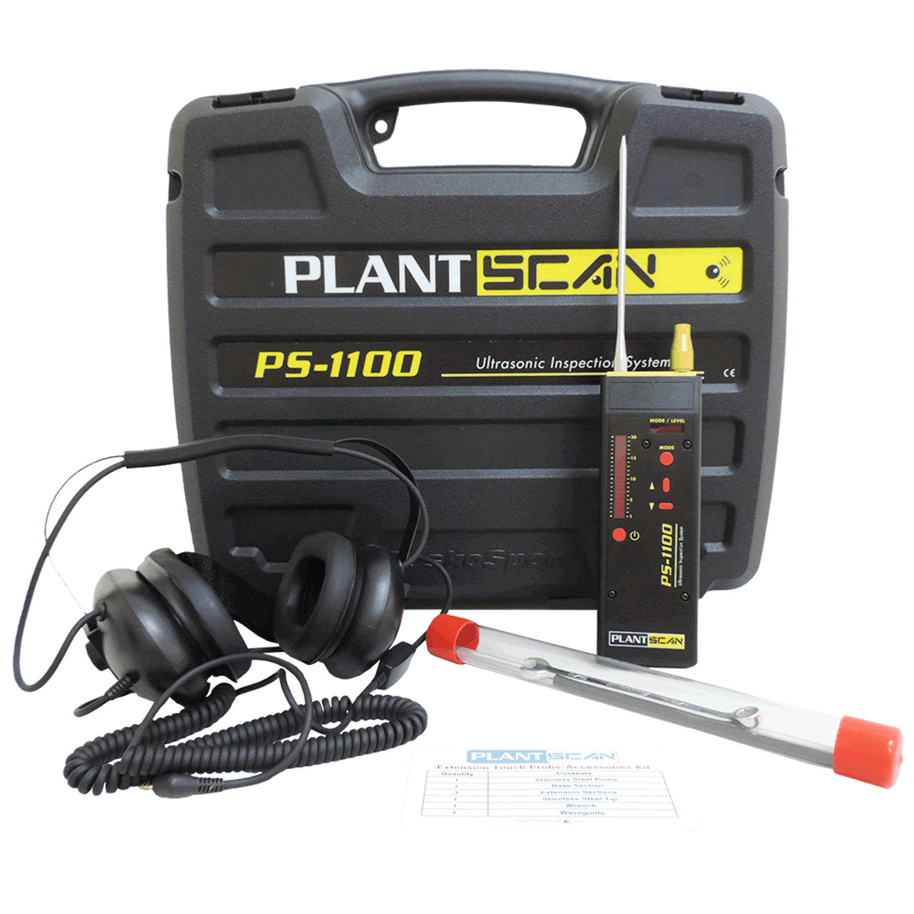 PS 1100 Kit - Ultrasonic Leak Detector & Condition Monitor