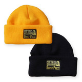 Gold and Black Double Roll Beanie