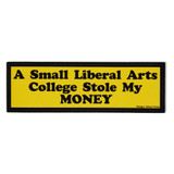 College Theft Bumper Sticker