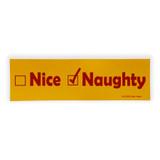 Naughty Vintage Bumper Sticker