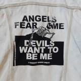 Angels Fear Me Cut Off Denim Vest