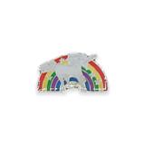 Vintage White Unicorn Rainbow Pin