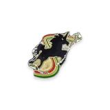 Vintage Black Unicorn Rainbow Pin