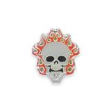 Vintage Flaming Skull Pin