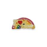 Vintage I Love Unicorns Rainbow Pin