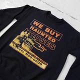 Haunted House Crew Neck Sweatshirt Black