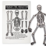 Skully the Skeleton Cut Out Screen Print
