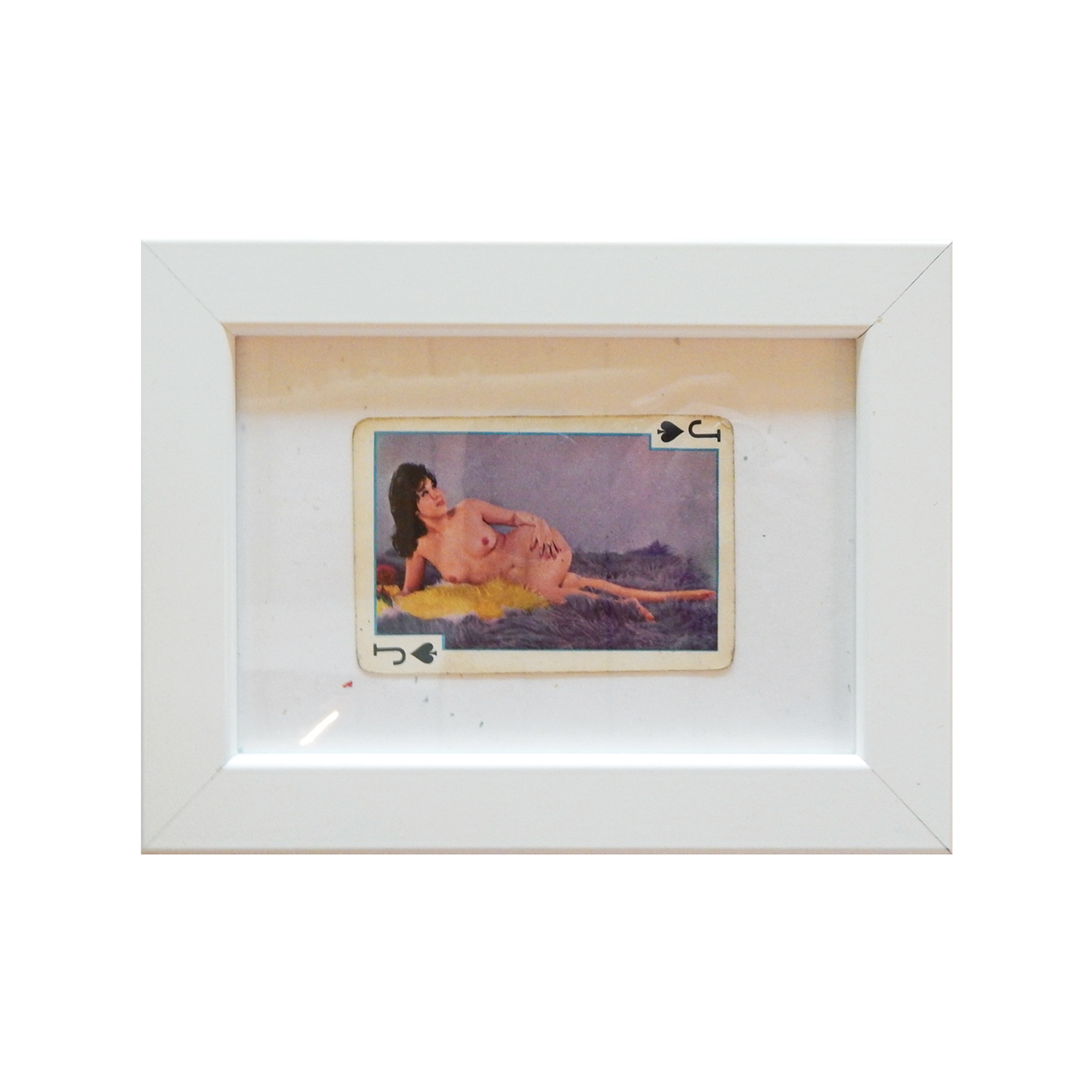 Vintage Framed Risque Playing Cards