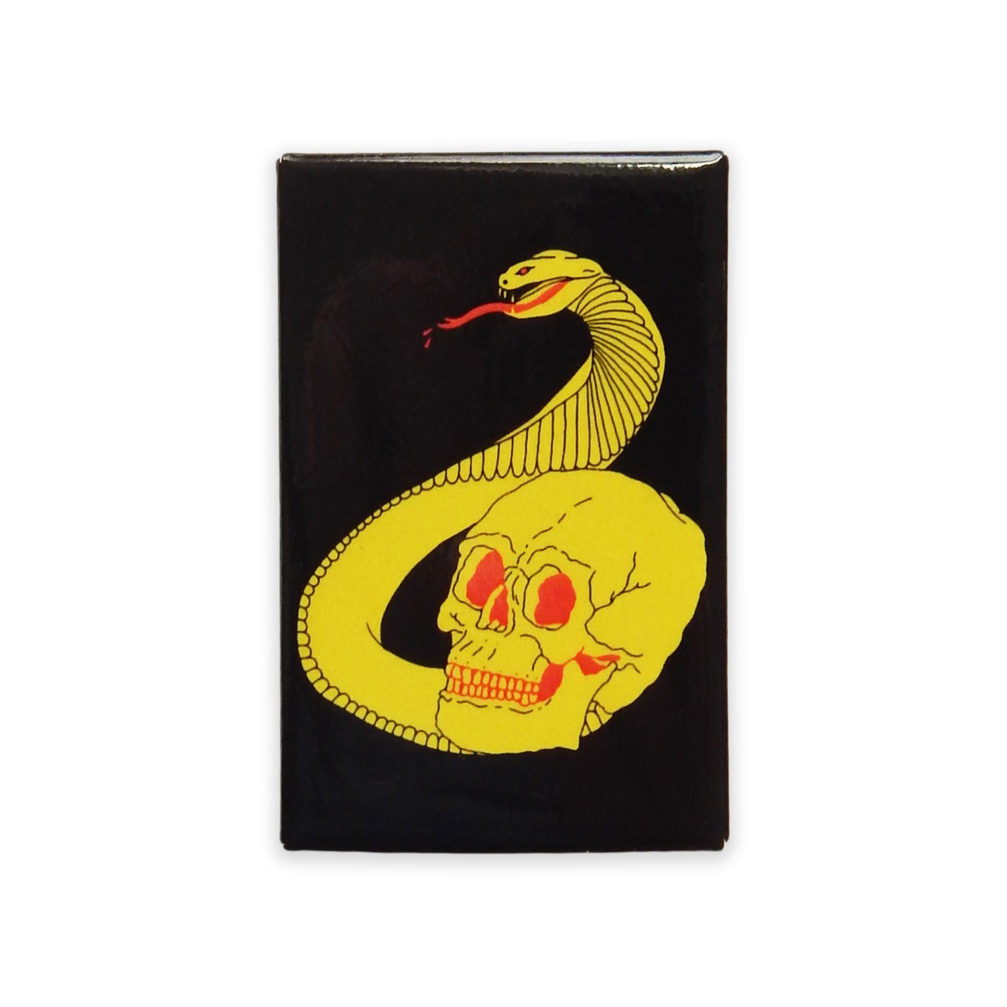 Cobra Skull Button