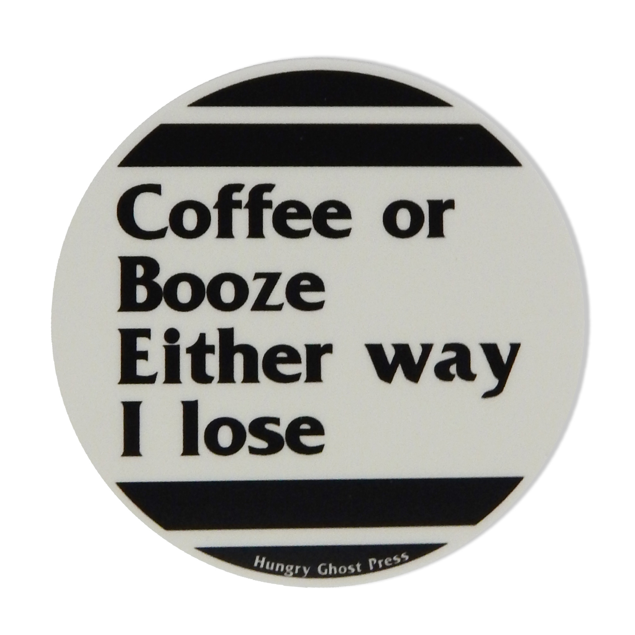 "Coffee or Booze 3"" Sticker"