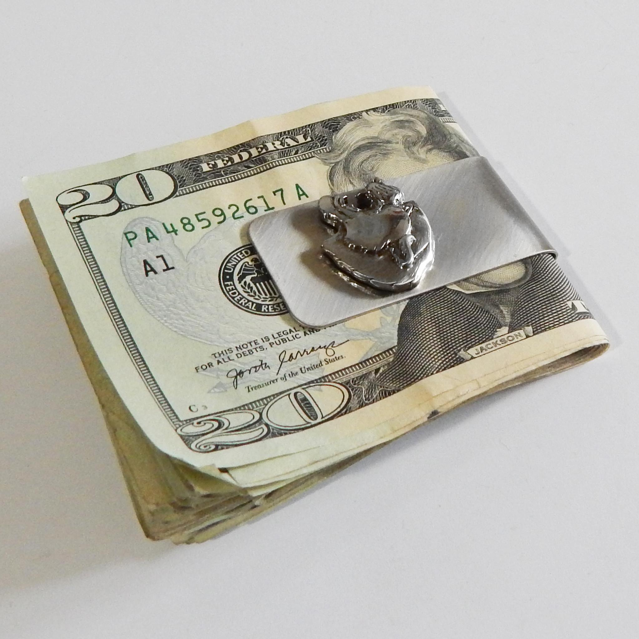 Vintage Panther Head Money Clip