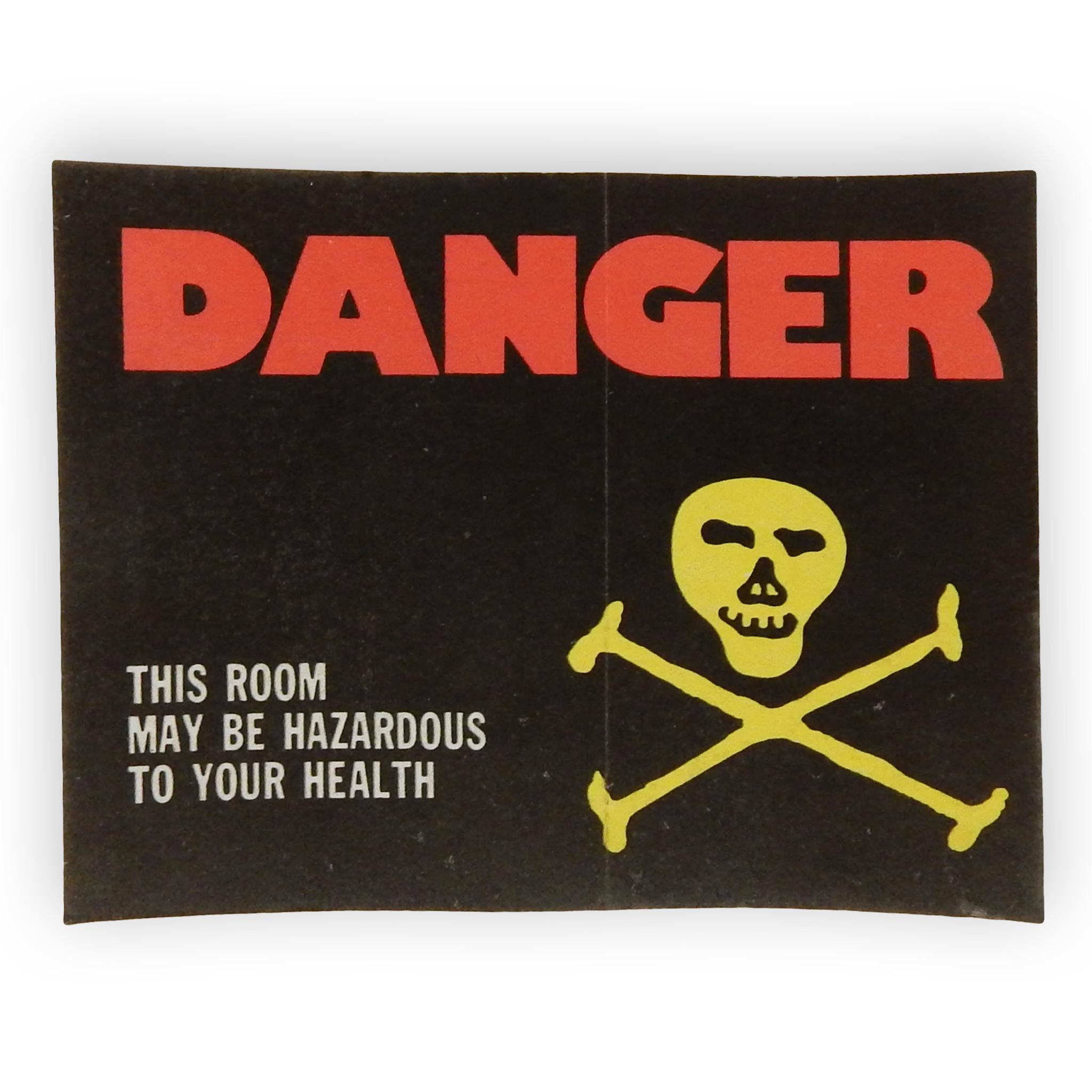 Vintage Hazardous Room Sticker