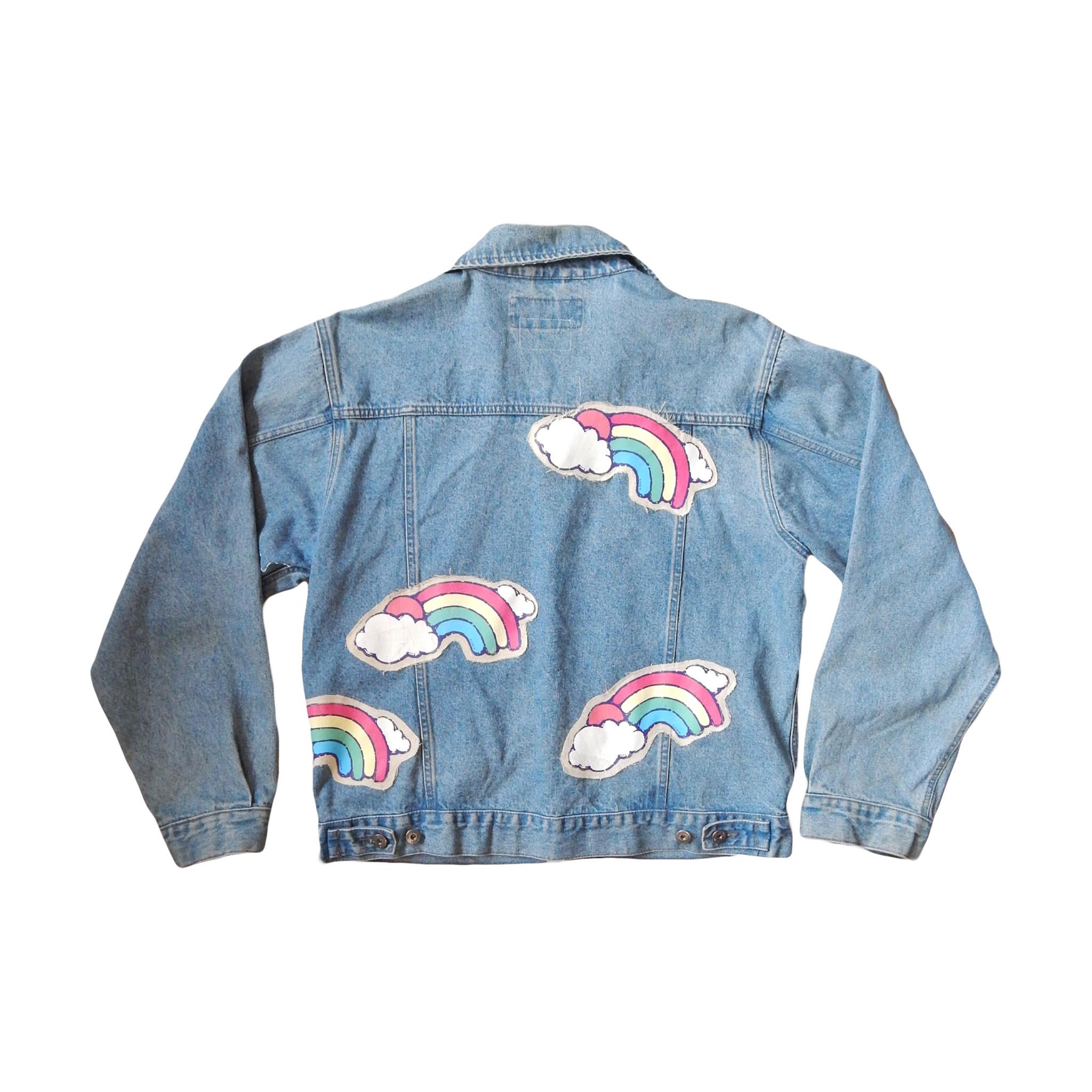 Rainbow Denim Jacket One Off