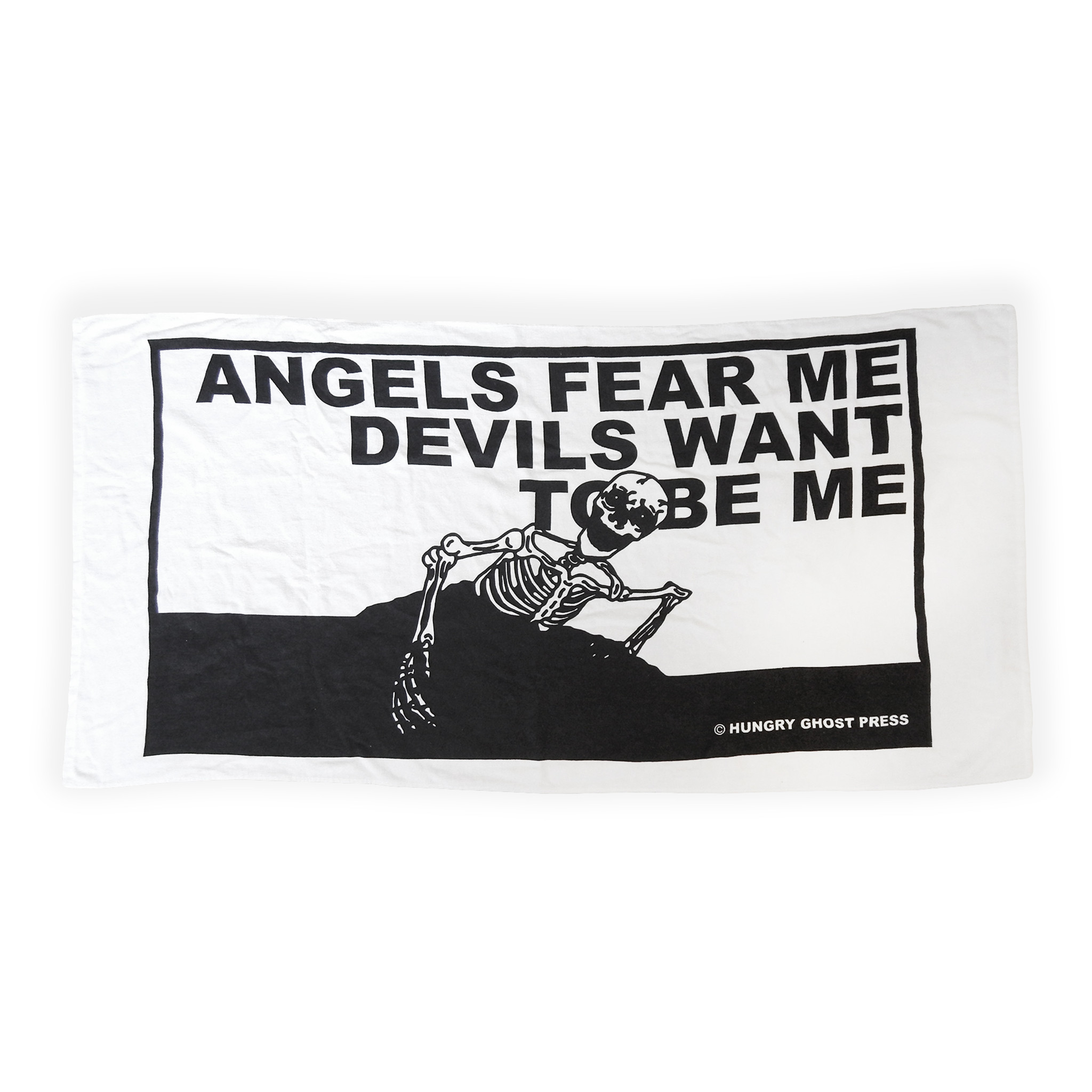 Angels Fear Me Beach Towel