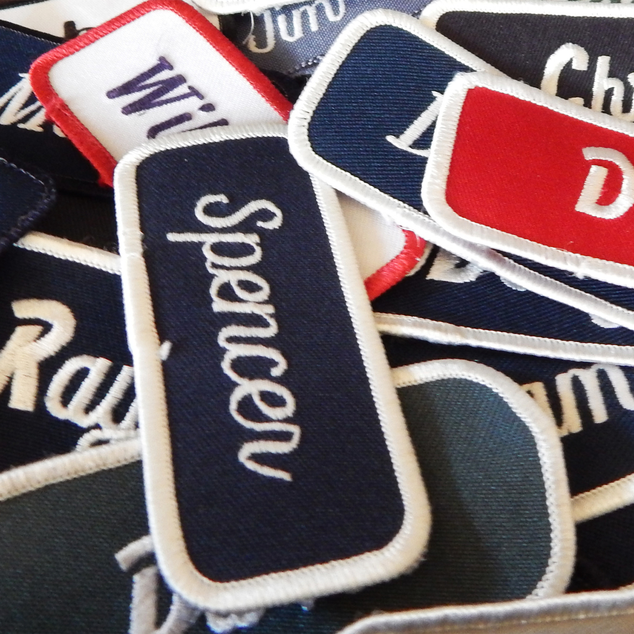 Vintage Assorted Name Patches